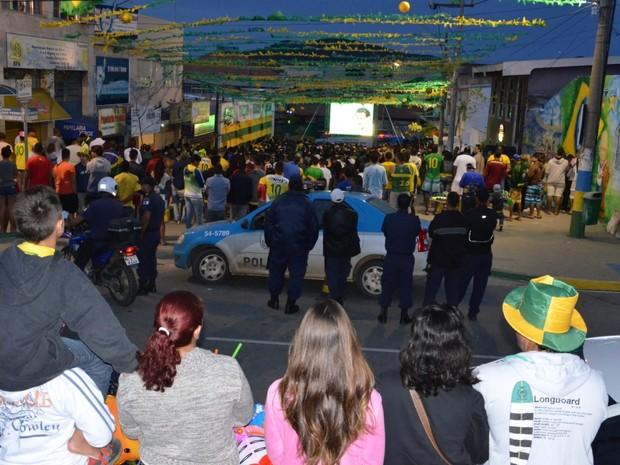 Torcida de São Pedro da Aldeia comemorou na Rua da Parra (Foto: Divulgação)