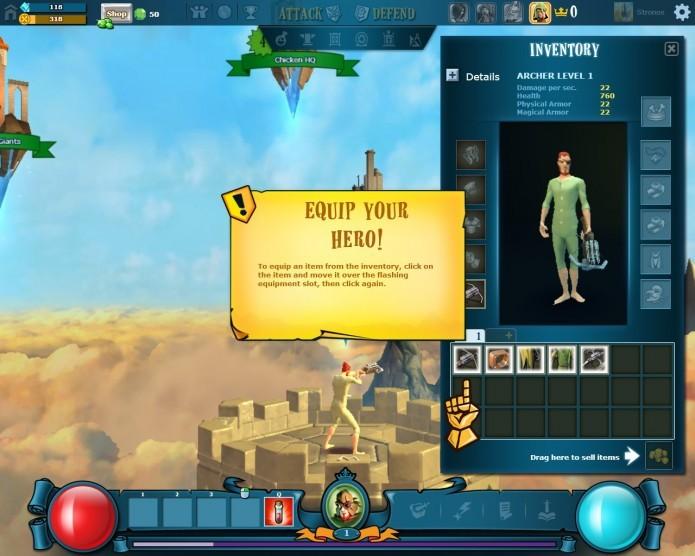 The Mighty Quest For Epic Loot  possui um tutorial bem didático e divertido (Foto: Reprodução/Daniel Ribeiro)