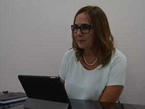 Secretária de educação, Goreth Sousa  (Foto: Jorge Abreu/G1)