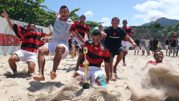 Flamengo é campeão da Taça Cidade Maravilhosa de futebol de areia (Foto: Rodrigo Molina)
