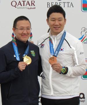 É a segunda medalha de ouro de Wu em etapas da Copa do Mundo (Foto: Divulgação/ISSF)