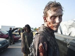 Zumbi da nova fase do seriado: maquiagem os tornou ainda mais assustadores (Foto: Divulgação)