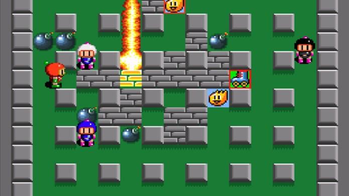 A fórmula do multiplayer de Super Bomberman que o tornou sucesso nas locadoras continua divertida até hoje (Foto: Reprodução/Alvanista)