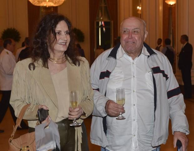 O casal Rosamaria Murtinho e Mauro Mendonça (Foto: Fabio Cordeiro/QUEM)