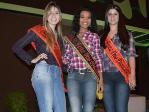 Rainha e princesas da Festa do Peão de Piracicaba de 2013  (Foto: Thomaz Fernandes)