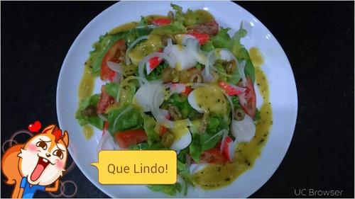 salada especial ao molho de mostarda