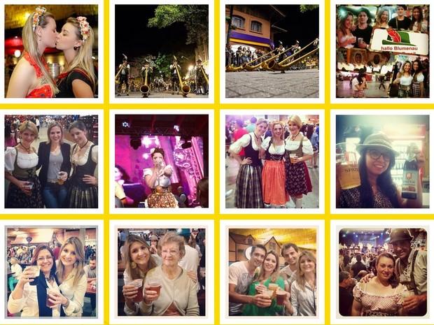 Já foram postadas mais de mil fotos com a hastag #oktoberblumenau (Foto: Reprodução/OktoberSocial)