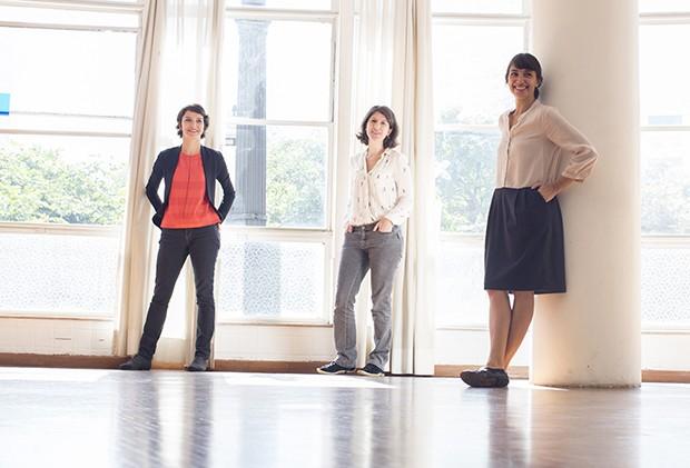 O trio de fundadoras da Editora Ubu, Elaine Ramos, Gisela Gasparian e Florencia Ferrari  (Foto: Kiko Ferrite)