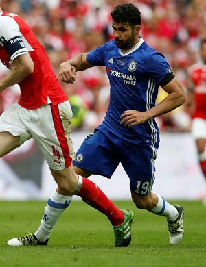 Diego Costa, Arsenal x Chelsea (Foto: Reuters / Andrew Yates )