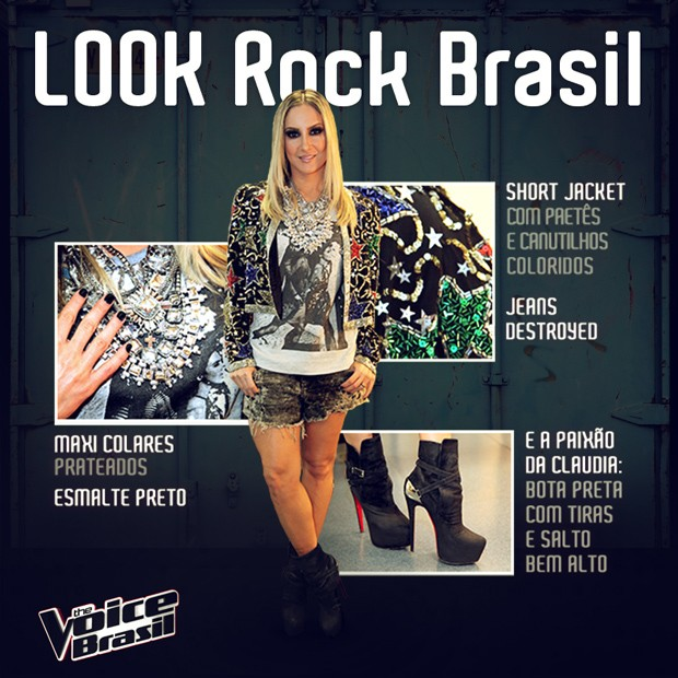 Look Claudia Leitte Vivo 1 (Foto: The Voice Brasil/TV Globo)