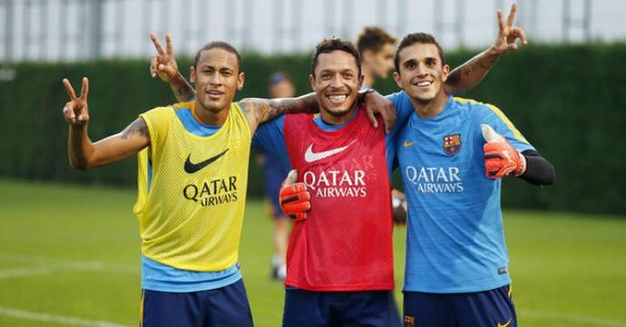 Neymar retorna aos treinamentos (Foto: MIGUEL RUIZ /FCB)