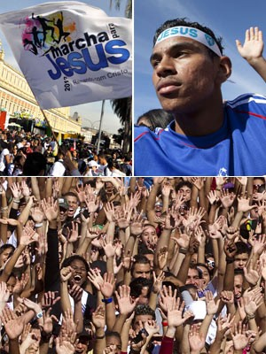 SP tem 20ª Marcha para Jesus (Levi Bianco/Brazil Photo Press/Folhapress/AP)