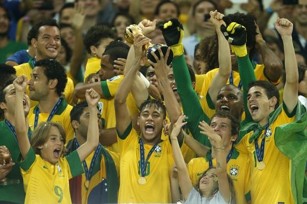 Brasil é tetracampeão da Copa das Cofnederações (Foto: AP Photo/Bruno Magalhaes)