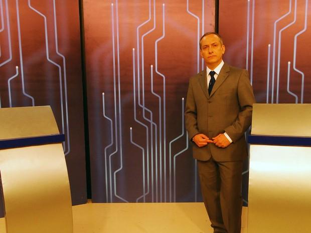 Jornalista José Roberto Burnier mediará o debate da Inter TV Cabugi neste segundo turno (Foto: Ricardo Araújo/G1)
