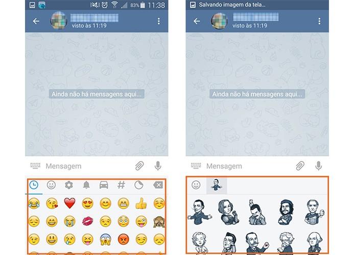 Use stickers e emoticons divertidos nas conversas pelo Telegram (Foto: Reprodução/Barbara Mannara)