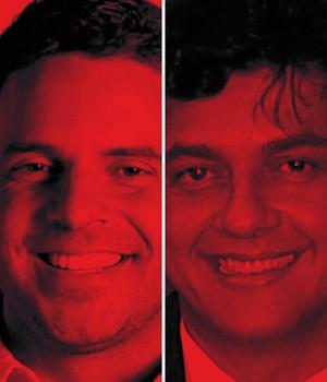 PARCEIROS Marcelo Fiche, chefe de gabinete de Mantega (à dir.), levou o amigo Humberto Alencar (à esq.) à assessoria da Fazenda. Ambos deram início  à contratação  da Partners (Foto: -)