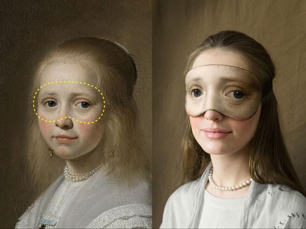 Artista transforma telas icônicas em máscaras de dormir  (Foto: Divulgação)