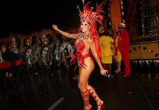 Tânia Oliveira no carnaval de São Paulo (Foto: Iwi Onodera/EGO)