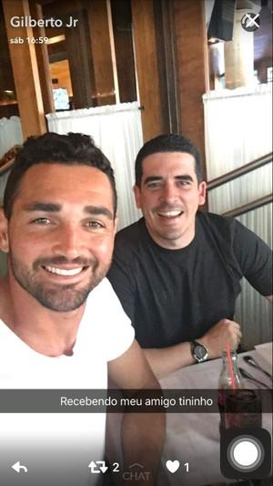 Tininho e Gilberto (Foto: Reprodução rede social)