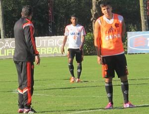 Luxemburgo Mugni treino Flamengo (Foto: Thales Soares)