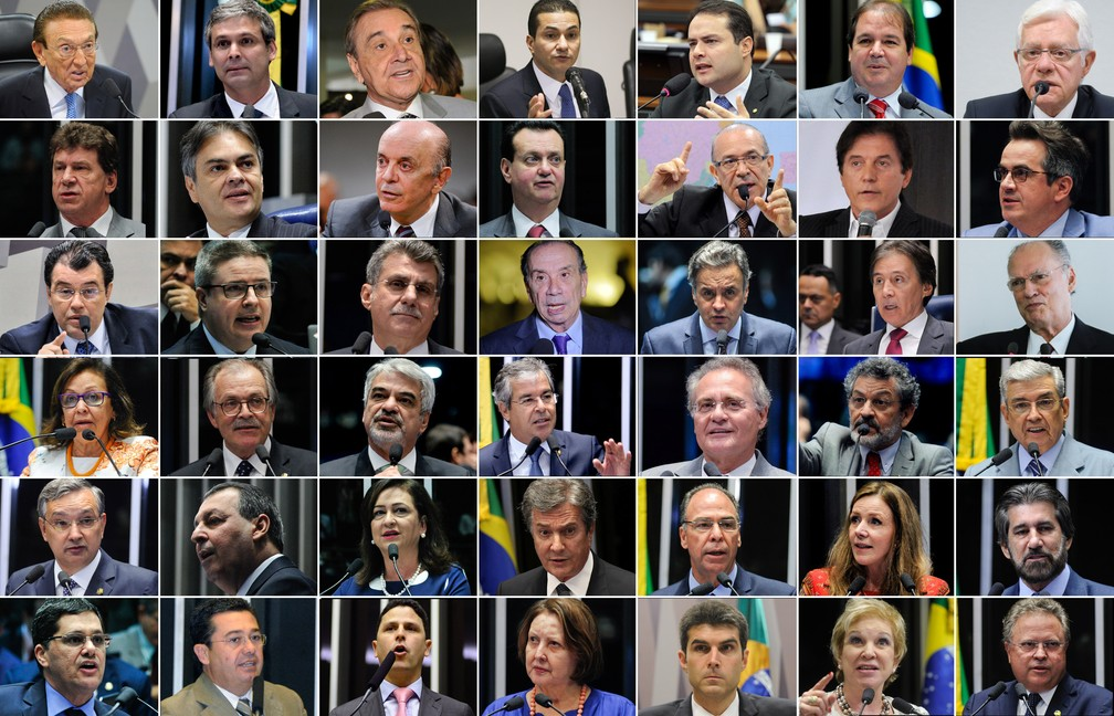 Lista tem 108 pessoas, sendo 9 ministros, 3 governadores, 29 senadores e 42 deputados (Foto: Editoria de foto/G1)