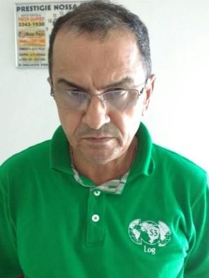 Natanael José da Silva Ex-presidente da Assembleia de Rondônia é preso em Abadiânia, Goiás (Foto: Reprodução/TV Anhanguera)