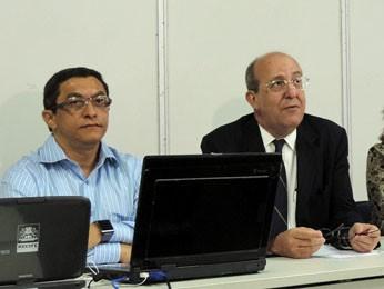 Secretários de Educação e Tecnologia anunciaram as novidades (Foto: Katherine Coutinho/G1)