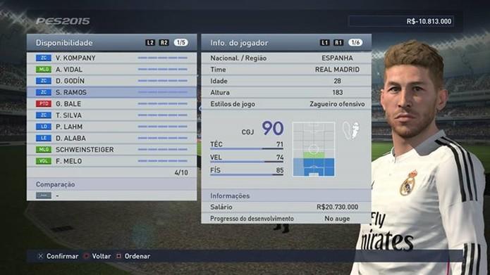 Sergio Ramos é um excelente defensor (Foto: Reprodução/Thiago Barros)