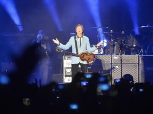 Paul McCartney  faz show e leva público ao delírio, espírito santo (Foto: Edson Chagas/A Gazeta)