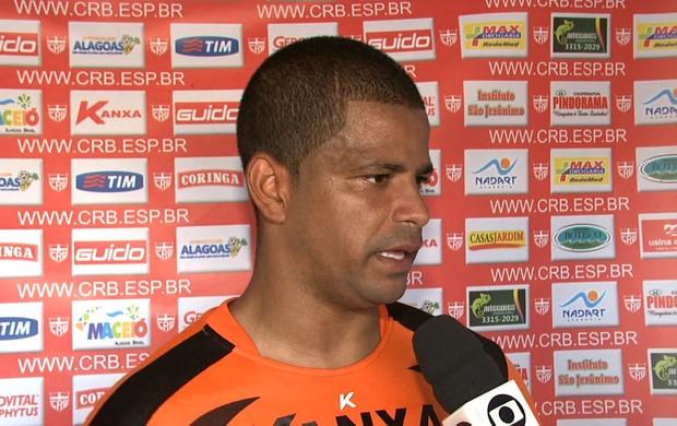 Júlio César, goleiro do CRB (Foto: Reprodução/TV Gazeta)