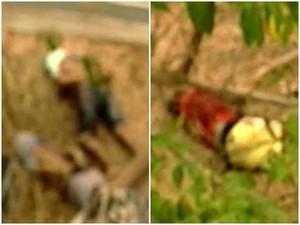 Corpos foram encontrados em Caucaia, na Grande Fortaleza (Foto: TV Verdes Mares/Reprodução)