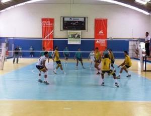 Vôlei do UTC nos Jogos de Minas Gerais 2012, em Juiz de Fora (Foto: Sílvio Azevedo)