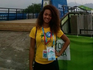 Alexandra Maria atleta de Lagoa da Prata no Jogos da Juventude na China (Foto: Alexandra Pimenta/ Arquivo Pessoal)