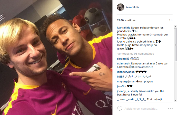 Rakitic Neymar Bola de Ouro