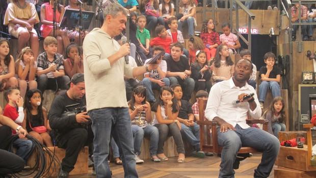 Vagner Love no Altas Horas (Foto: Marcos Guerra/Globoespote.com)