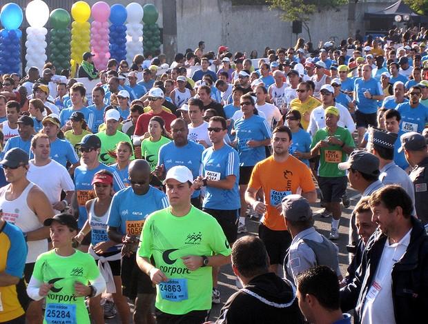 Maratona de São Paulo corrida de rua largada (Foto: Lucas Loos / Globoesporte.com)