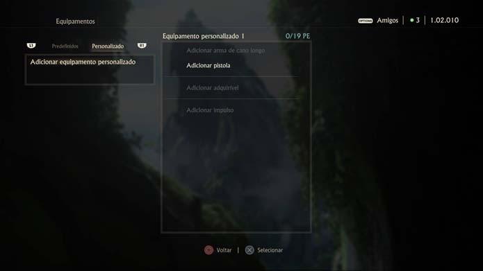 Inicie uma classe personalizada em Uncharted 4 (Foto: Reprodução/Murilo Molina)
