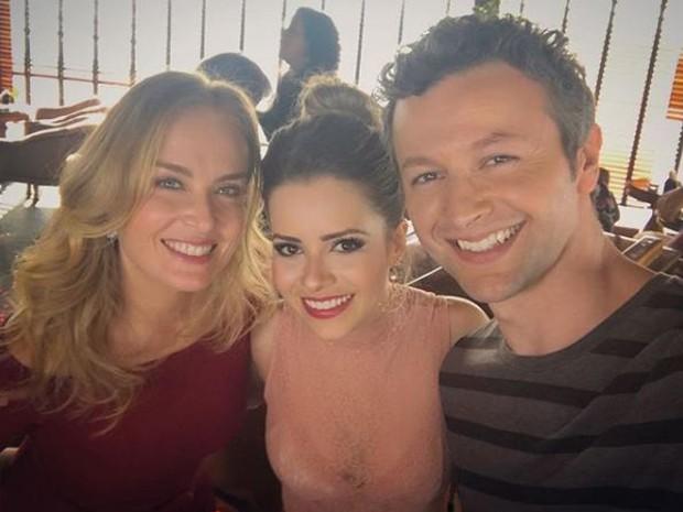 Angélica, Sandy e Lucas Lima (Foto: Reprodução/Instagram)