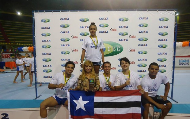 Equipe maranhense de ginástica artística medalha de bronze em Sergipe (Foto: Femag / Divulgação)