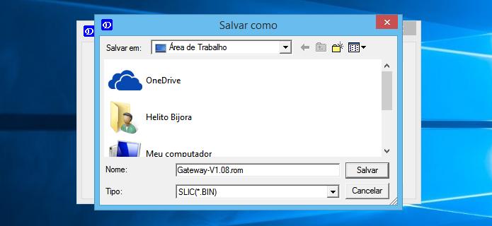 Salve o backup em um local de fácil acesso (Foto: Reprodução/Helito Bijora)