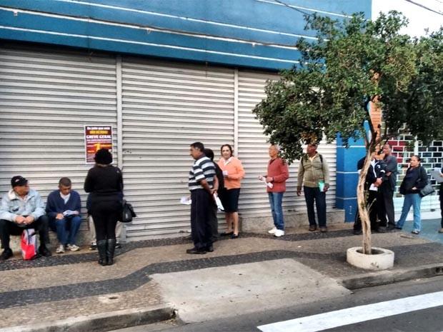 Agência do INSS de Indaiatuba aderiu à greve nacional netsa quinta (23) (Foto: Cristiano Machado / SinsPrev)
