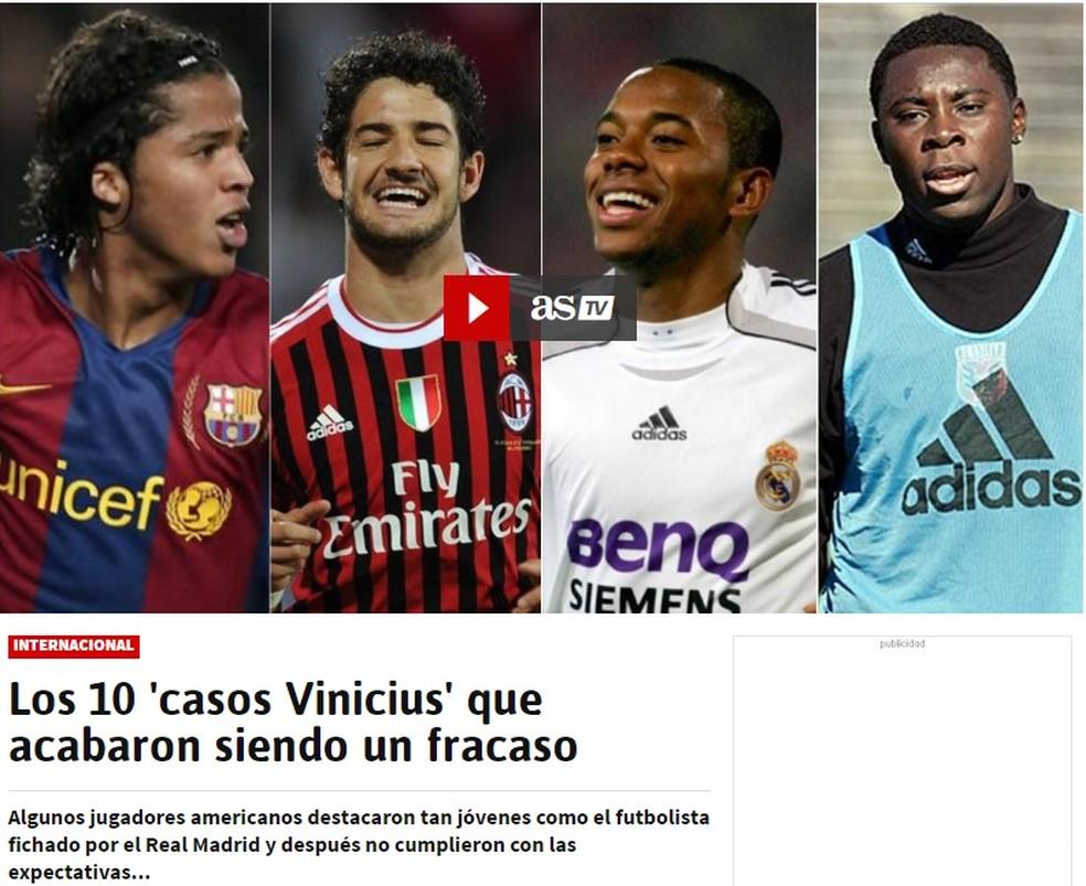 Diário As cita Giovanni dos Santos, Pato, Robinho, Freddy Adu e outras jovens promessas que