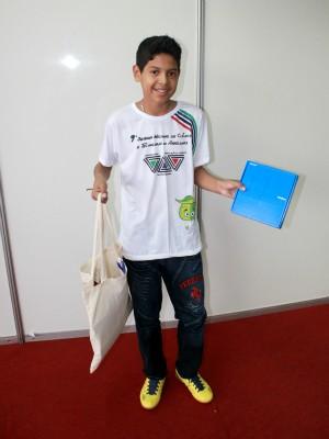 Donaldo Barreto foi o grande vencedor do concurso de redação (Foto: Tiago Melo/ G1 AM)