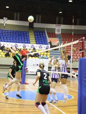 Mogi das Cruzes x São José dos Campos vôlei feminino Jogos ABertos 2013 (Foto: Thiago Fidelix / Globoesporte.com)