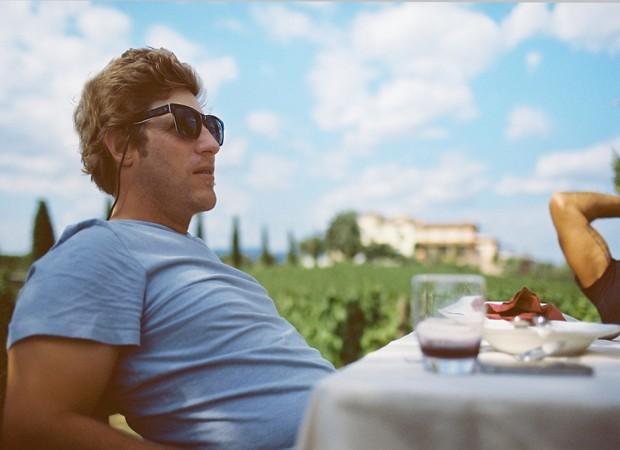 Jason Baffa na propriedade dos Castellani na Toscana (Foto: Divulgação)