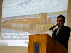 Audiência pública em Piracicaba - Projeto da barragem de Santa Maria da Serra - Ivan Carneiro (Foto: Thomaz Fernandes/G1)