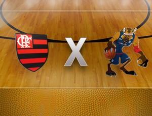 chamada confronto basquete Flamengo x Uberlândia NBB (Foto: Editoria de Arte / Globoesporte.com)