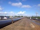 Com novos tubos, obra de adutoras é iniciada em ponte ao lado da que caiu