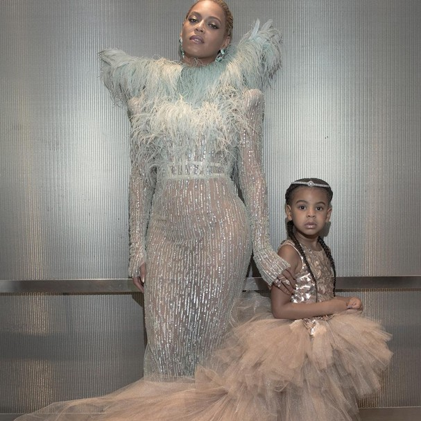 Blue Ivy e Beyoncé antes de chegar no VMA 2016 (Foto: Reprodução/ Instagram)