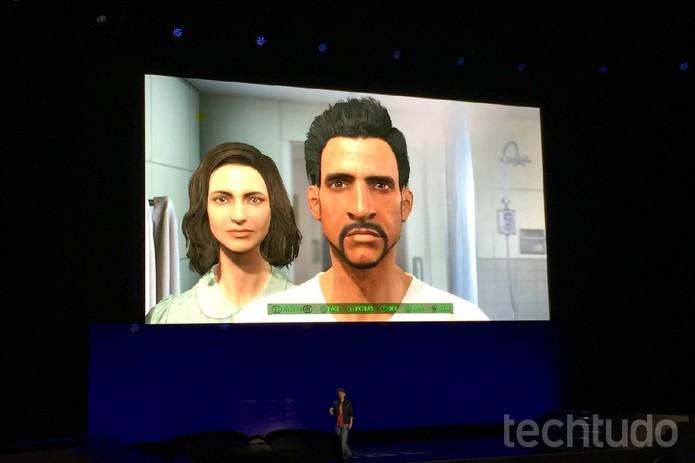 O novo editor de faces de Fallout 4  (Foto: Viviane Werneck/TechTudo)